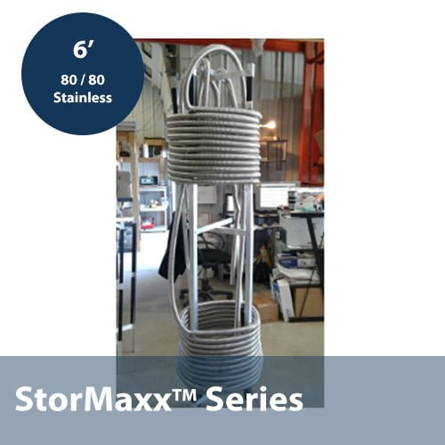 80 / 80 Stacked 3/4″ Corrugated Stainless Steel Heat Exchanger In 6ft Height Configuration