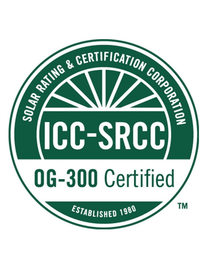 SRCC OG-300 Certification – ThermoPower-VTS15-HP-E