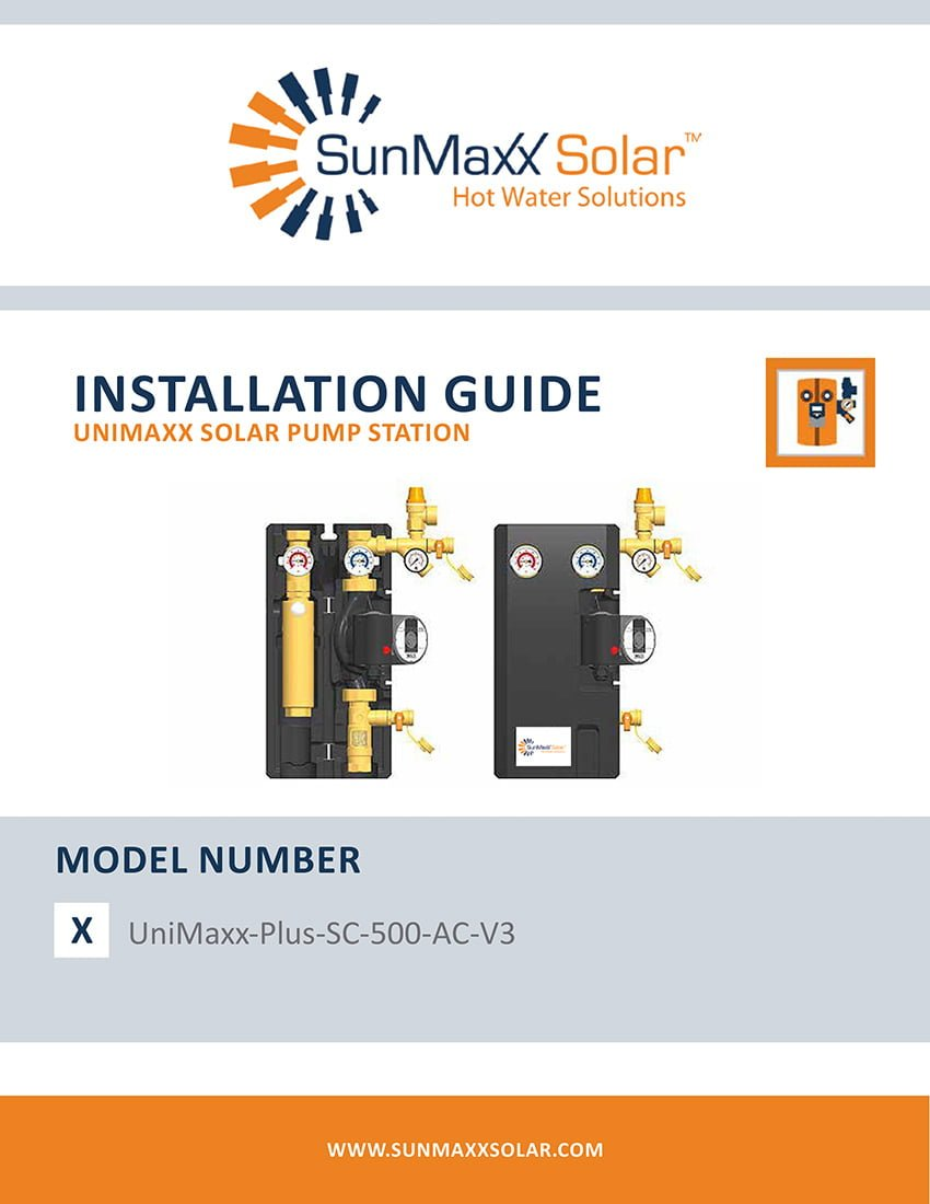Install Manual – UniMaxx-Plus-SC-500-AC-V3 Solar Pump Station