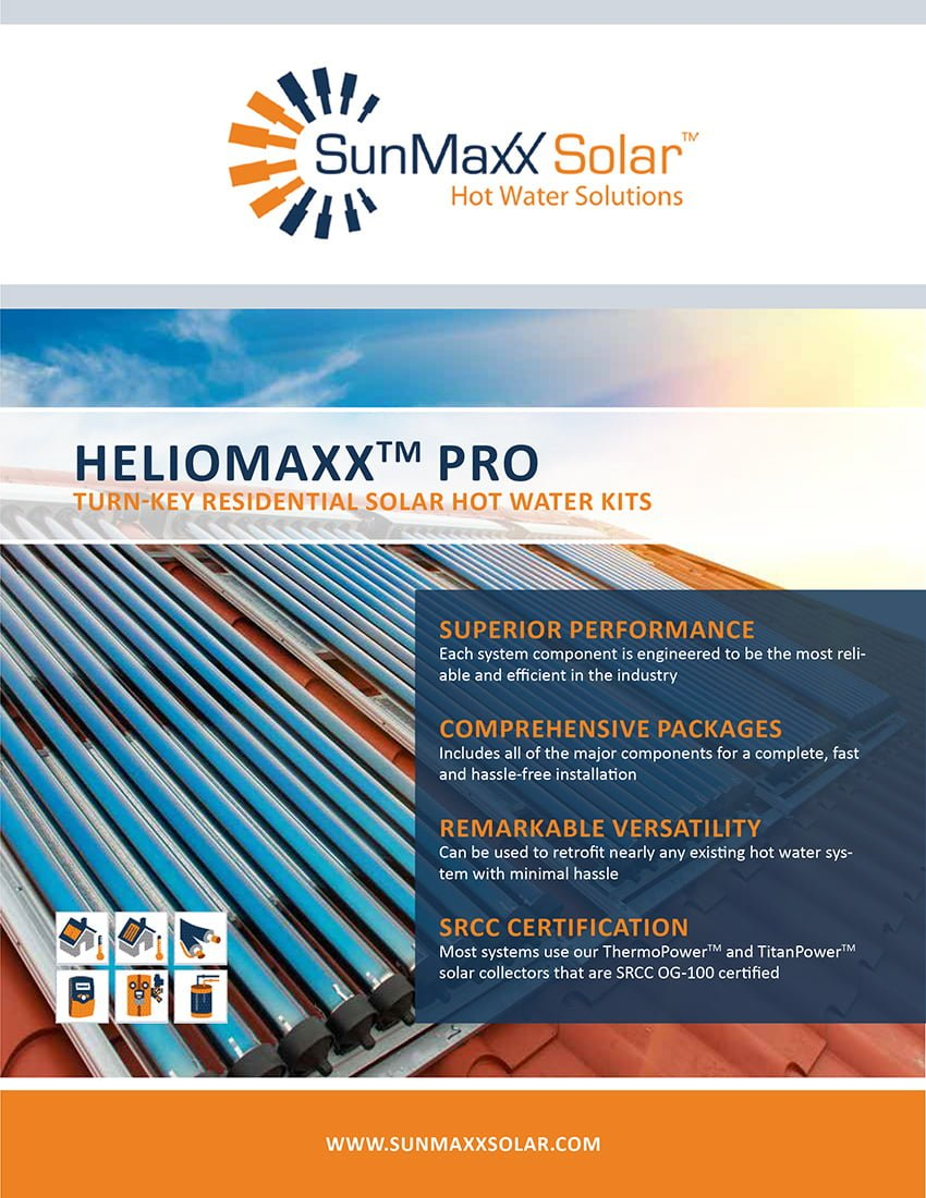 Brochure – HelioMaxx Pro Turnkey Solar Hot Water Kits
