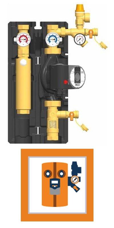 Régulateur solaire d'eau chaude et station de pompage